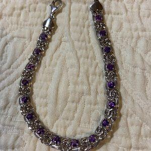 SS Byzantine amethyst bracelet